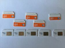 Lot of 10 New At&T GoPhone standard size Sim Card 3G 4G Lte PrePaid