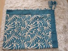 Rivahome Dubai Teal Throw With Tassels Approx 180cm x 145cm New With Tags