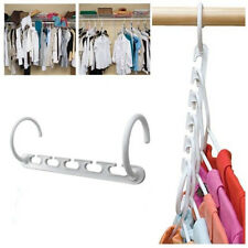 Space Saver Wonder Magic Clothes Hangers Closet Organizer Hooks Racks Useful CA