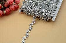 10 Yard  crystal Rhinestone Trim Banding Silver Setting (S)