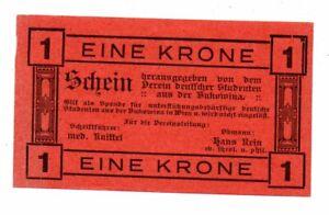 Aus065 Österreich, Verein dt. Studenten Bukowina 1 Kr