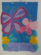 "Childrens Welcome   Garden Flag Party Yard Banner 31"" x 40"""