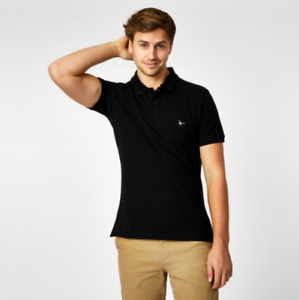 Jack Wills Aldgrove Classic Polo Mens Black UK Size XL *REF173