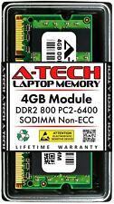 A-Tech 4 ГБ PC2-6400 для ноутбука Sodimm DDR2 800 МГц 200-Pin ноутбук памяти Ram 1x 4G