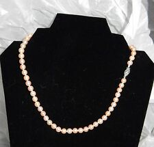 """18"""" Strand String PINK Cultured Freshwater Pearl Necklace 6.5mm"""