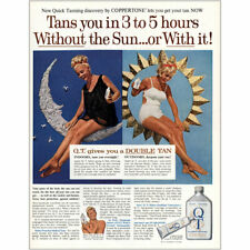 1964 Coppertone QT: Tans You In 3 to 5 Hours Vintage Print Ad