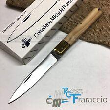 COLTELLO SFILATO SICILIANO ARTIGIANALE FRARACCIO MADE IN ITALY OLIVO-OTTONE 21cm