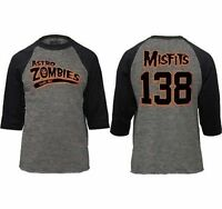 Authentic The Misfits Baseball Jersey Astro Zombies Horror Punk S M L Xl 2Xl