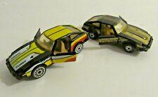 2 Vintage 1982 MATCHBOX Datsun 280ZX 2+2 Yellow & Gold Stripes Made in Macau