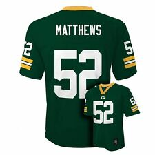 (2016-2017) Green Bay Packers CLAY MATTHEWS nfl Jersey YOUTH KIDS BOYS (L-LARGE)