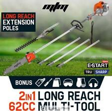 All-in-one 62CC Pro-Series 2in1 Hedge Trimmer Long Reach Chainsaw Pruner