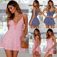 Women Summer Boho Casual Short Maxi Evening Party Cocktail Beach Dress Sundress
