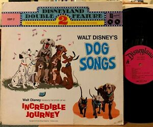 Walt Disney Dog Songs and The Incredible Journey 2 LP Vinyl Disneyland DDF-2