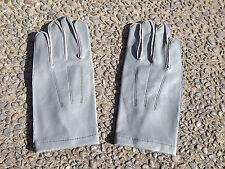 WW2 German Officer Grey Leather Gloves (Size L)