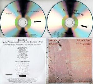 BRIAN ENO Apollo: Atmospheres & Soundtracks 2019 UK 23-trk #'d promo 2xCD + PR