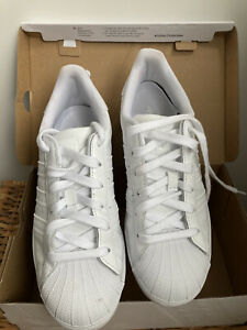 Adidas Originals Superstar Trainers Triple White Size 6