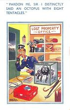 POSTCARD  COMIC  Lost Property  Octopus  Eight  Tentacles