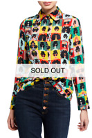 ALICE OLIVIA Stace-Face 'WARHOL' Photo Booth Silk Blouse SOLD-OUT BNWT! SaksBox!