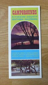 RIVERSIDE COUNTY CALIFORNIA CAMPGROUND BROCHURE, Info, Photos, Map, 1960's