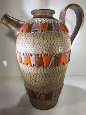 Huge Fratelli Fanciullacci Ceramic Jug Pitcher Raymor Rosenthal Netter Bitossi