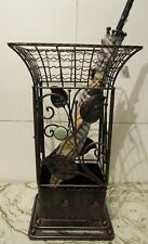 Antique Looking Copper Brown Square Metal Wrought iron Umbrella Holder Stand NEW