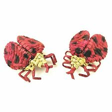 2 Ladybug Refrigerator Magnets Folded Paper Animal Insect Magnet Red Black