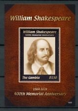 Gambia 2016 MNH William Shakespeare 400th Memorial Anniv 1v S/S Stamps