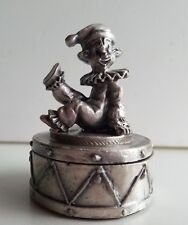 WHOLESALE...Round Clown Pewter Ring Box (Lot of 10)