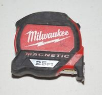 Milwaukee 48-22-7125 25ft Magnetic Tape Measure USED U90