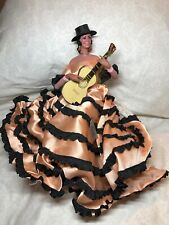 "13.5"" Vintage Marin Chiclana Spanish Doll Pepita Amaya Guitar Player With Box"