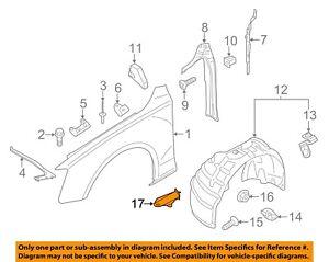 AUDI OEM 08-17 A5 Quattro Fender-Bracket Left 8K0821433A