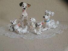 Disney Vintage 101 Dalmatian Ceramic Figurines - SET OF 6 EUC