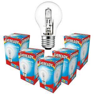 E27 Halogen Dimmable GLS Light Bulb 48w = 60w Equivalent 240v ES Edison Screw