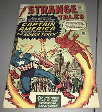 Strange Tales #114 Marvel 1st Silver Age App Appearance Captain America