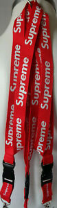 2pcs.Supreme Neck Lanyard Key Chain Phone strap accessories Red Black