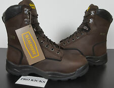 "LACROSSE QUAD COMFORT 8"" STEEL TOE LEATHER BOOTS BROWN INSULATED NEW (SIZE 8.5W)"