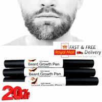 Men Facial Hair Beard Growth Pen Stimulator Essence Fast Grow Enhancer Care UK