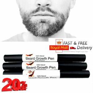 Men Facial Hair Beard Growth Pen Stimulator Essence Fast Grow Enhancer Care NEW