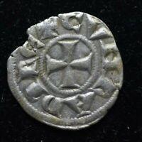 RARE 1139-1339 Conrad III Crusader Coin Genoa Italy DENIER