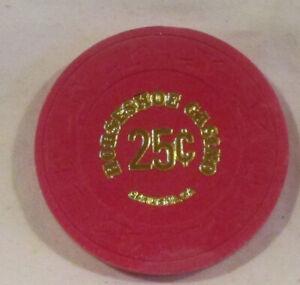 25¢ Chip from the Horseshoe Casino, Gardena, California