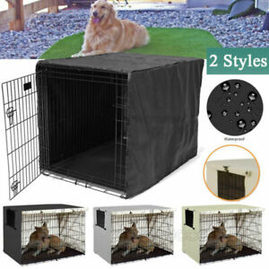 Pet Dog Cage Folding Cover Waterproof Kennel House Crate Cover Case 22-48inch