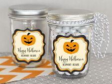 48 Personalized Classic Halloween Theme Mini Mason Jars Halloween Party Favors