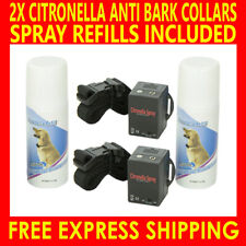 2X CITRONELLA AUTOMATIC ANTI BARK SPRAY STOP BARKING DOG PET TRAINING COLLARS