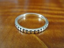 925 Ring Size 6 3/4 Flat Circle Design Sterling Silver