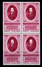 ITALIA REP. - 1958 - 350° Anniversario della Nascita di Evangelista Torricelli -