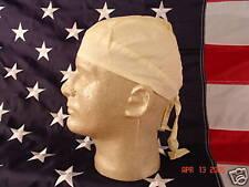 Solid Light Pastel Yellow Durag Biker Doo Rag Bandanna Skull Cap Headwrap Chemo