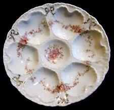 Antique Victorian Schmidt & Co Victoria Carlsbad Austria Oyster Plate 1891-1918