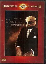 """DVD """"L'HOMME INVISIBLE"""" - CLAUDE RAINS - GLORIA STUART neuf sous blister"""