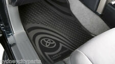 TOYOTA PRADO 150 SERIES RUBBER FLOOR MATS FRONT AUTO AUG 09 - AUG 13  GENUINE