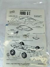 Vintage 1968 The Lindberg Line Super Mini Lindy Ford GT *instruction sheet only*